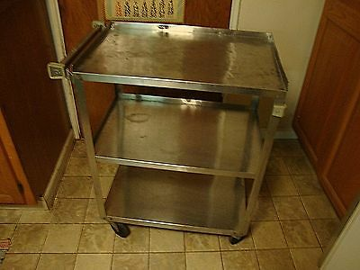 Lakeside Stainless Steel Utility Bus Cart Rolling