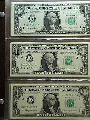 $1 Complete District Currency Set Except For The 1963A Kansas Note***aco