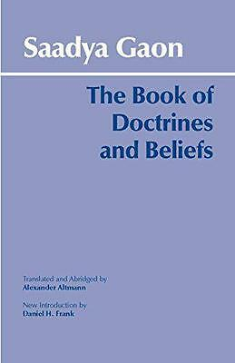 The Book of Doctrines and Beliefs by Saadya Gaon | Paperback Book | 978087220639