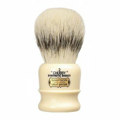 Simpsons Synthetic Badger Shaving Brush Chubby 2 **OZ SELLER*QUICK POST**