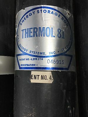 THERMOL 81 SOLAR ENERGY STORAGE ROD 6ft. PCM Phase Change Material PVC CELL