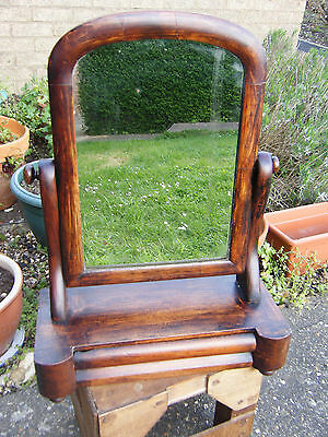 Vintage Edwardian Mahogany Dressing/Table Top Mirror with Drawer