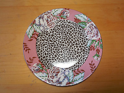 """Queen's China India FLORAL & CHEETAH Salad Plate 8 5/8"""" 1 ea      7 available"""