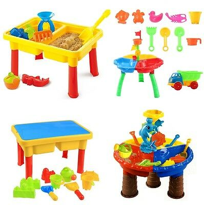 Kids Toddler Sand And Water Play Table Bucket Activity Sandpit Toy Beach Summer