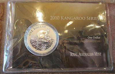 2010 1 oz silver uncirculated frosted kangaroo