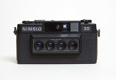 NIMSLO 3D 35mm camera with manuals and box, Vintage, TESTED, located in USA