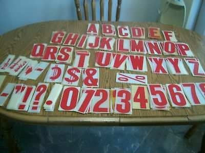 lot of over 300 plastic numbers and letters for signs arts & crafts 6 1/4 inches