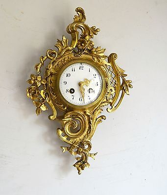 French Brass Cartel Japy Freres  Wall Clock
