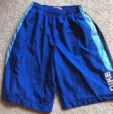 BOYS NIKE Blue Swim Shorts SZ-Youth Small (8) !!