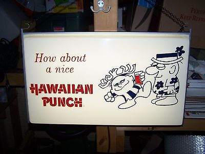 VINTAGE HAWAIIAN PUNCH SIGN Light PUNCHY Soda Pop Drink Beverage Ad Neon Hawaii