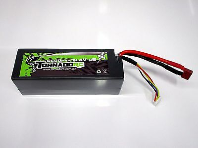 Tornado RC 4S 6500mAh 14.8V 90C LiPo Hard Case Battery Pack W/ Deans Plug OZ RC