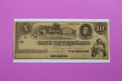 1800's $10 Bank of New England Ct East Haddam At Goodspeeds Landing Obsolete