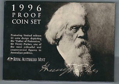 1996 Royal Australian Mint Proof Coin Set Sir Henry Parkes