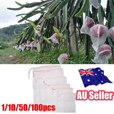 1-100pcs Garden Plant Fruit Protect Bags Sac Net Mesh Against Insect Pest Bird
