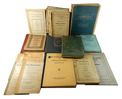 Vintage Sheet Music Lot ^ Books Hymnals Programs Musical Times Handel Strauss