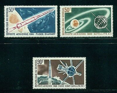 Senegal Scott #C43-C45 MNH Space Achievements CV$4+