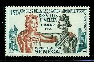 Senegal Scott #C35 MNH 150Fr Twin Cities Cong CV$4+