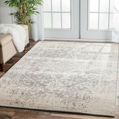 CREAM SILVER Grey Modern Rug Large Floor Mat Carpet FREE DELIVERY*