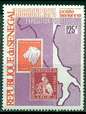 Senegal Scott #C139 MNH Map of Italy Stamps Int'l Philatelic Exhibition $$