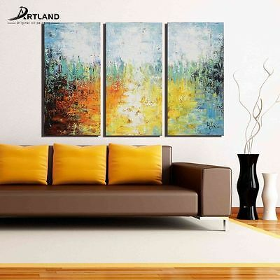 Abstract Canvas Oil Painting Wall Art Hand Painted Framed 'The Fire of Desire'