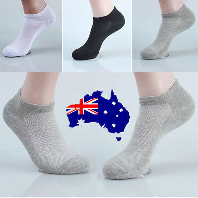 New Men's Ankle Invisible Casual Sport Cotton Socks Low Cut Socks ON
