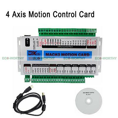 ECO Mach3 USB 4 Axis 2 MHz CNC Motion Control Card Steuerung Breakout Board