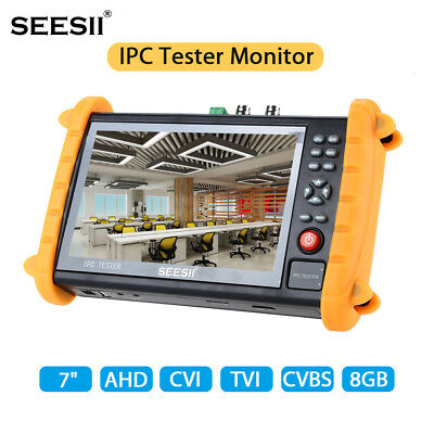 "AU! IPC9600SATC 5-in1 7"" Touch Screen IP 1080P HD-AHD TVI CVI Camera CCTV Tester"
