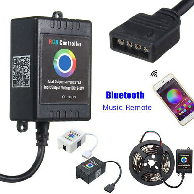 Wireless Bluetooth Music Remote Smartphone App Controller For 5050 RGB LED Strip