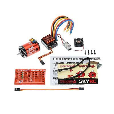 SkyRC 4000KV 8.5T 2P Brushless Sensored Motor & CS60 60A ESC & Program Card S6F6