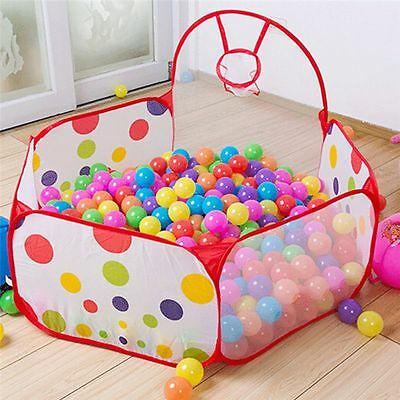 Kids Baby Foldable Ocean Ball Pool Pit Playpen Tent with Zippered Storage Bag