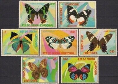 Equatorial Guinea 1976 Butterflies Insects Nature 7v set MNH