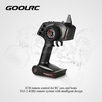 GoolRC TG3 2.4GHz 3CH Remote Control Transmitter w/Receiver for RC Car Boat Z1H3