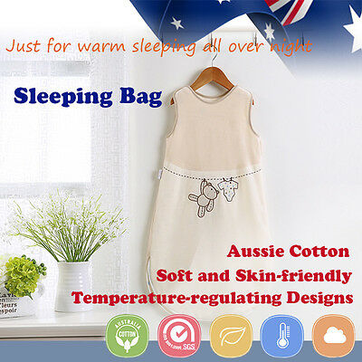 Baby Toddler Kid Sleeping Bag Sleepsuit Winter Spring 1.0 tog 2.5tog 0-18 months