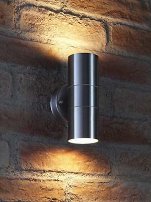 New Stainless Steel Up Down Wall Light GU10 IP55 Double Outdoor Wall Light