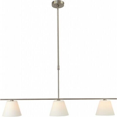 Pendulum Light In Nickel Cover Lamp Hanging Kitchen New Glass