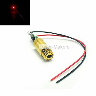 Brass 650nm 50mw Red Focus Dot Laser Diode Module 3-4.2V w/ Driver + Wire