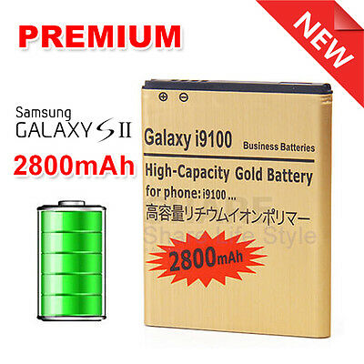 2800mAh Internal Li-ion Gold Replacement Battery for Samsung Galaxy S2 SII I9100