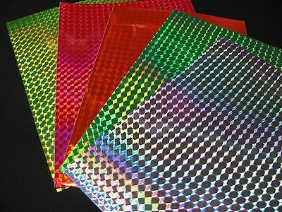"Holographic PRISM Sheets of Sign Vinyl, 12 inch x 24 inch sheet, 1/4"" Mosaic"