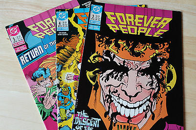 Vintage Collection Of 3 Progs Comic Magazines Forever People Dc Comics