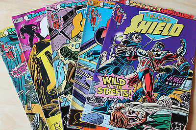 Vintage Collection Of 5 Progs Comic Magazines Legend Of The Shield Inc Issue #1