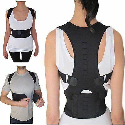 Neoprene Magnetic Posture Bad Back Corrector Lumbar Shoulder Support Belt Brace