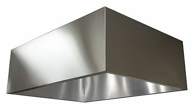 Dayton Commercial Kitchen Exhaust Hood, 430 Stainless Steel, Number of Light