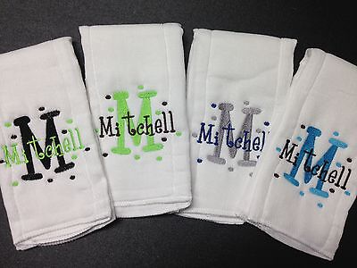 Personalized/Embroidered Baby Burp Cloths