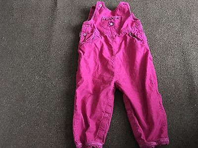 Pink Needle Cord Dungarees.12-18 Months