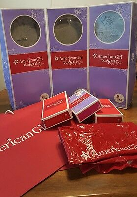 American Girl Lot Of 10 Empty Boxes and Bags For Doll Dolls and Accessories