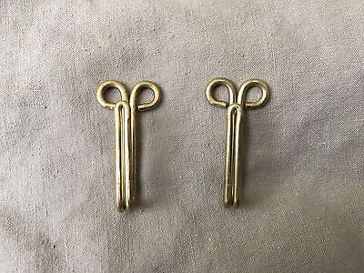 Original WW1/WW2 British Army Service Dress Khaki Drill Brass Uniform Belt Hooks