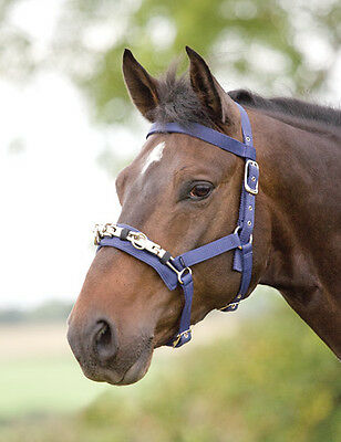 Shires Equestrian Nylon Lunge Cavesson - Full Dark Airforce Blue