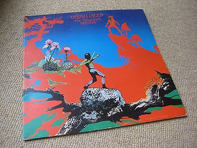 Uriah Heep The Magician's Birthday 1st Press UK LP G.Kong FIRST LABEL VARIATION