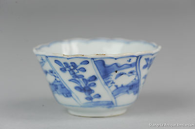 Antique 18C Kangxi Chinese porcelain cup saucer Blue & White Tea Set China