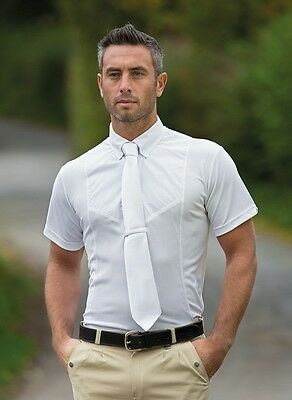 Shires Gents Short Sleeve Tie Shirt White XX-Large